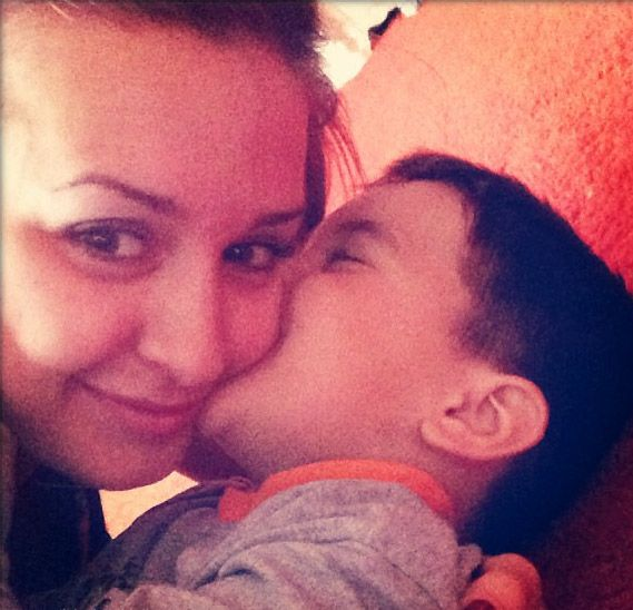 Рита Агибалова с сыном